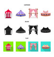 roand folding icon vector image vector image