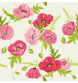 seamless floral shabchic background vector image vector image