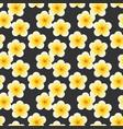 seamless plumeria flowers beautiful tropical vector image vector image