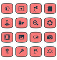 set of simple photograph icons vector image vector image