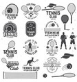 set tennis club badges with design element vector image