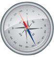 Silver compass vector image