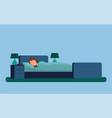 sleeping lady under blanket vector image