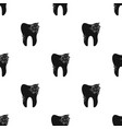 smiling tooth icon in black style isolated on vector image vector image