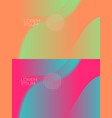 smooth abstract colorful backgrounds set - eps10 vector image vector image