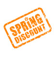 spring discount rubber stamp for retail spring vector image vector image