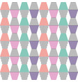 stacked geometric shapes with striped pattern fill vector image vector image
