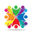 teamwork people in a social group discussion vector image vector image