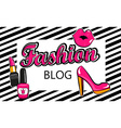Template for fashion blog vector image