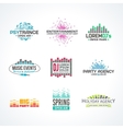 Third big set music equalizer emblem vector image vector image