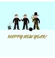 Three chimney sweeps for good luck vector image