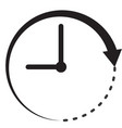 time icon on white background flat style clock vector image vector image