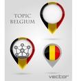Topic Belgium Map Marker vector image vector image