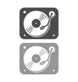 turntable simple icon design vector image