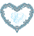 vintage ornamental heart shape with calligraphic t vector image vector image