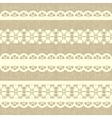 Vintage straight lace on linen canvas background vector | Price: 1 Credit (USD $1)