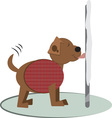 Winter Doggy Pole vector image vector image
