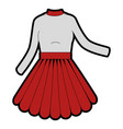 woman dress fashion vector image vector image