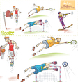 Cartoon Sports Characters Set vector image