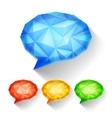Geometric Speech Bubbles vector image