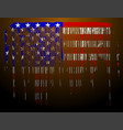 american flag in flowing paint shape vector image