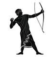 ancient greek warrior vector image vector image