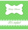 Baby shower with banner triplets vector image vector image