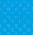 bank pattern seamless blue vector image