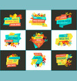 bargain sell-out discount and sale promo banners vector image vector image
