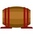 barrel whiskey wine or beer wood cask on vector image