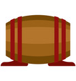 barrel whiskey wine or beer wood cask vector image
