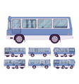 blue bus set vector image vector image