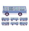 blue bus set vector image