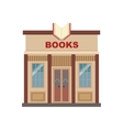 Book Shop Commercial Building Facade Design vector image