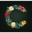 C letter Flower capital alphabet Colorful font vector image vector image