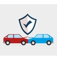 car crash insurance security vector image