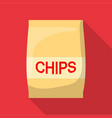 chip icon flat style vector image vector image