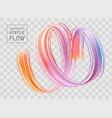 colorful flow poster transparent brushstroke wave vector image vector image