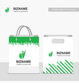 company logo shopping bags with green design with vector image