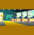 Coworking office hall cartoon interior