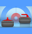 curling stones equipment background vector image vector image