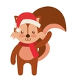 cute animal with christmas clothes vector image vector image