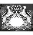 decorative frame with crown and cheetah vector image vector image