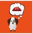 Dog pet cartoon Animal design vector image