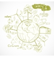 Doodles ecology and environment concept vector image