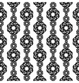 Elaborate black and white vertical pattern from vector image vector image