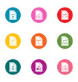 file icons set flat style vector image