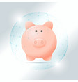 financial management concept with piggy bank vector image