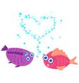 fish love vector image vector image