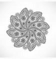 floral outline oriental decor mandala flower vector image vector image